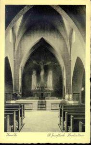 3599 PBKR0138 Interieur van de r.k. Sint-Jozefkerk, het hoofdaltaar. De kerk werd in 1932-1933 door architect Johan H. ...