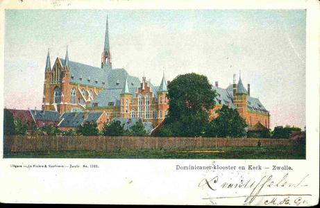 3610 PBKR0149 Dominicanenkerk en klooster (voltooid 1901-1902) gezien vanaf het onvoltooide Assendorperplein (voltooid ...