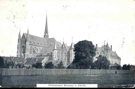 3613 PBKR0152 Dominicanenklooster en kerk (voltooid 1901-1902), gezien vanaf het nog onvoltooide Assendorperplein ...