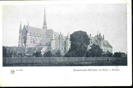 3614 PBKR0153 Dominicanenklooster en kerk (voltooid 1901-1902), gezien vanaf het nog onvoltooide Assendorperplein ...