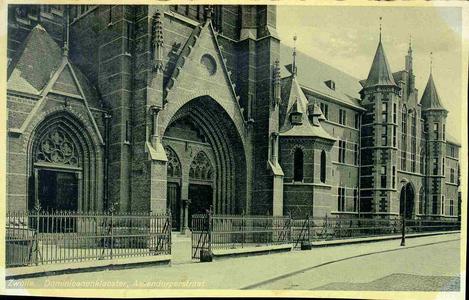 3616 PBKR0155 Dominicanenkerk en klooster aan de Assendorperstraat. De eerste steen voor kerk en klooster werd gelegd ...