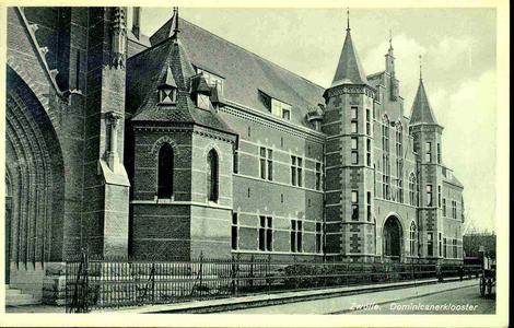 3811 PBKR0170 Dominicanenklooster aan de Assendorperstraat. De eerste steen voor kerk en klooster werd gelegd op 3 mei ...