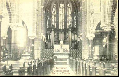 3820 PBKR0179 Interieur Dominicanenkerk ca. 1920-1930., 1920-00-00