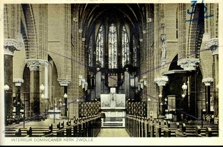 3821 PBKR0180 Interieur Dominicanenkerk, ca. 1920-1930, 1920-00-00