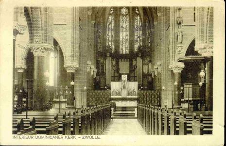 3827 PBKR0186 Interieur Dominicanenkerk, ca. 1915-1920., 1915-00-00