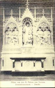 3829 PBKR0188 Assendorperstraat 27: Interieur Dominicanenkerk, ca. 1915-1920: altaar Petrus van Verona., 1915-00-00