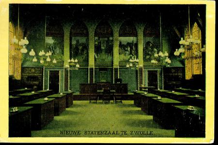 3854 PBKR0751 Interieur van de Statenzaal van het provinciehuis in de Diezerstraat 80-82, ca. 1905. De in 1904 ...