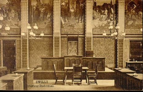 3858 PBKR0755 Interieurfoto van de Statenzaal in het vroegere provinciehuis. De Statenzaal bevindt zich in het ...