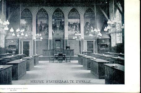 3860 PBKR0757 Gezicht in de Statenzaal van het provinciehuis in de Diezerstraat, ca. 1904. De in 1904 voltooide ...