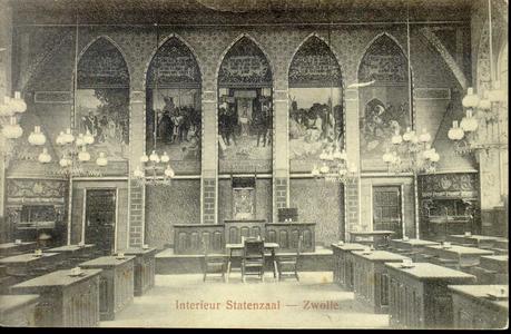 3862 PBKR0759 Gezicht in de Statenzaal van het provinciehuis in de Diezerstraat, ca. 1904. De in 1904 voltooide ...