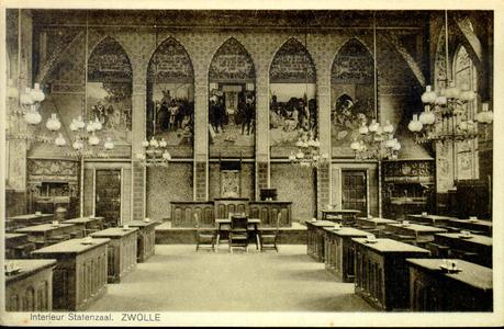 3864 PBKR0761 Gezicht in de Statenzaal van het provinciehuis in de Diezerstraat, ca. 1905. De in 1904 voltooide ...