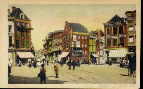 3898 PBKR1330 Grote Markt 6, hoek Oude Vismarkt. In 1915 begon H. Glastra met de IJmuider Vishandel. In 1914-1960 ...