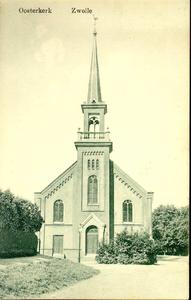4047 PBKR0226 De Oosterkerk werd in gebruik genomen op 23 september 1888. Het was de eerste kerk in Zwolle van de ...