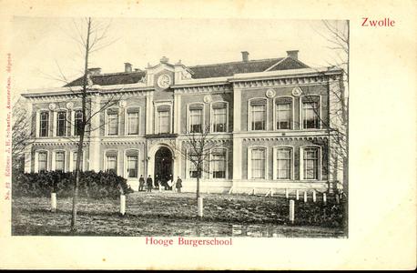 4051 PBKR0230 Rijks HBS, ca. 1900. Ontwerp stadsarchitect Berend Reinders (1825-1890) in Neoclassiscistische stijl, ...
