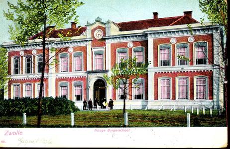 4054 PBKR0233 Rijks HBS, ca. 1900. Ontwerp stadsarchitect Berend Reinders (1825-1890) in Neoclassiscistische stijl, ...