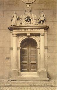 4491 PBKR0310 Broerenstraat 11, ca. 1910. Het poortje van het voormalige Hervormd Weeshuis aan de Broerenstraat, ...