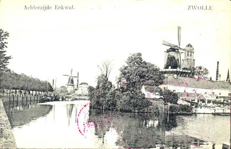 4506 PBKR0863 Gezicht op de stadsgracht omstreeks 1910, gezien vanaf de Willemskade. Aan de rechterkant de Eekwal met ...