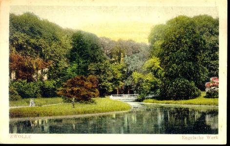 4888 PBKR0956 Ingekleurde prentbriefkaart van Park Het Engelse Werk. Dit is rond 1830 aangelegd op het voormalige ...