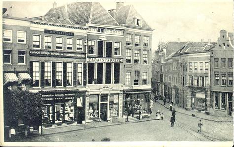 4892 PBKR1497A Deel van een panoramakaart (overzicht) van de Grote Markt, 1907.Van links naar rechts:Grote Markt 10 tot ...