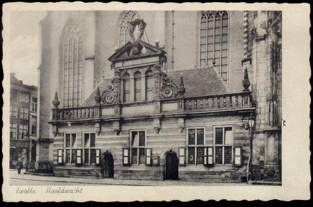 4919 PBKR1522 de Hoofdwacht aan de Grote Markt tegen de Grote Kerk aan. Links daarvan: Grote Markt 3: de ...