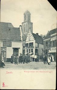 4996 PBKR2681 Gezicht op de kruising Luttekestraat - Kamperstraat, 1904. Op het pand op de hoek Kamperstraat - ...