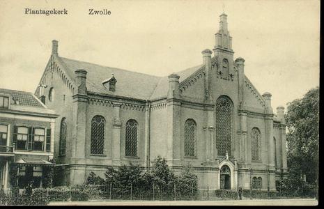 5157 PBKR2699 Ter Pelkwijkstraat 17 (rijksmonument), vooraanzicht van de gevel van de Plantagekerk (gereformeerd ...