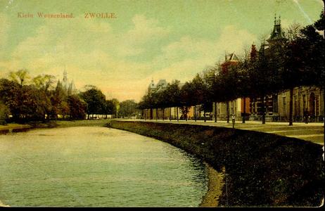 5200 PBKR0443 Brugemeester van Roijensingel, ca. 1910 (tot 1933 Klein Weezenland), over de stadsgracht naar de ...