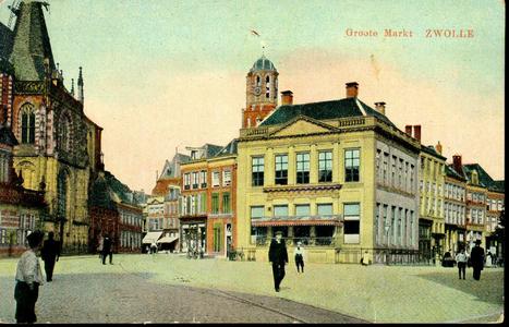 5312 PBKR2169 Gezicht op De Harmonie , Grote Markt 13, ca. 1915. Het pand De Harmonie werd gebouwd in 1828 als ...