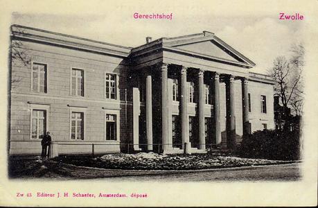 5339 PBKR2738 Potgietersingel, achterzijde Paleis van Justitie, gerechtshof te Zwolle, ca. 1900-1905., 1900-00-00