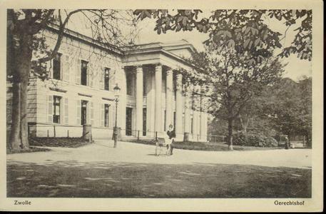 5347 PBKR2746 Potgietersingel met achterzijde van het Paleis van Justitie, met vrouw achter kinderwagen, ca. 1915., ...