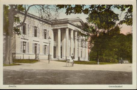 5349 PBKR2748 Potgietersingel, achterzijde Paleis van Justitie, met op voorgrond voruw met kinderwagen, ca. 1910-1915., ...