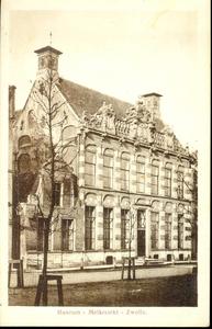 5649 PBKR2220 Melkmarkt 41, Provinciaal Overijssel Museum (nu Stedelijk Museum Zwolle), ca. 1915. Het museum huist ...