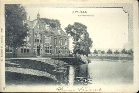 5667 PBKR2238 Gezicht op het Flevogebouw vanaf de Menno van Cochoornsingel, 1902. Het Flevogebouw werd in 1898 gebouwd ...