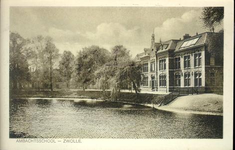 5673 PBKR2244 Menno van Coehoornsingel 16: Flevogebouw vanaf de Burgemeester Drijbersingel, ca. 1928. Het Flevogebouw ...