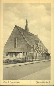 5844 PBKR2272 De NH Jeruzalemkerk vanuit het zuidoosten, vanaf de Molenweg. De kerk werd gebouwd in de jaren 1932-1933, ...