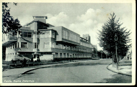 5883 PBKR2855 Rhijvis Feithlaan, Sophia Ziekenhuis, 1935-1936.Gedeelte (voltooid 1935), ontworpen door stadsarchitect ...