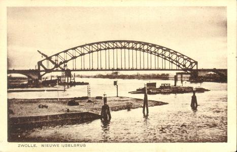 651 PBKR4234 IJsselbrug en pont Katerveer over de IJssel, 1930., 1930-00-00