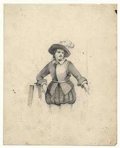 1112 -TP000976 Een afbeelding van een man in zeventiende-eeuwse kledij.