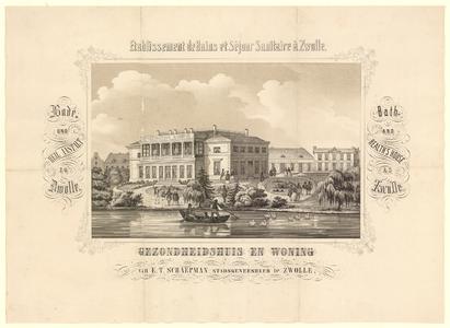 343 -TP000591 Afbeelding van het huis van Schaepman, stichter van het Badhuis aan de Badhuiswal.