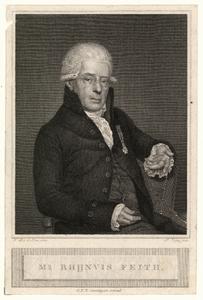 579 -TP000157 Portret van Rhijnvis Feith (1753-1824), kniestuk naar rechts, zittende., 1820