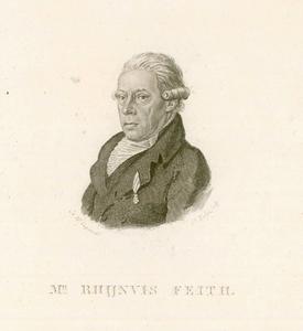 584 -TP000162 Portret van de dichter Rhijnvis Feith (1753-1824), borstbeeld naar links., 1818
