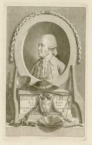 587 -TP000165 Portret van Joan Derk van der Capellen tot den Pol (1741-1784), borstbeeld naar links, in ovaal, ...