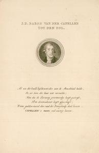 588 -TP000166 Portret van Joan Derk van der Capellen tot den Pol (1741-1784), kop en schouders in rond medallion, ...