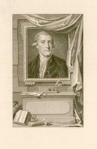 589 -TP000167 Portret van Joan Derk van der Capellen tot den Pol (1741-1784); borstbeeld van voren, in rechthoekige ...