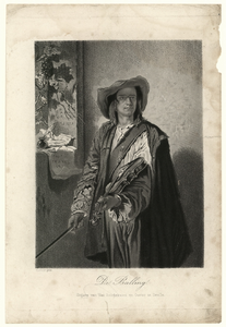 59 -TP001014 Afbeelding van een man met een viool in zijn hand.