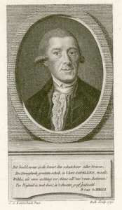 591 -TP000169 Portret van Joan Derk van der Capellen tot den Pol (1741-1784), borstbeeld van voren en rechts; in ovaal; ...