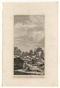 592 -TP000170 Ruïne 1788 van het graf van Joan Derk van der Capellen tot den Pol (1741-1784), op de achtergrond de ...