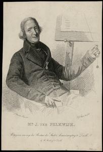 613 -TP000726 Portret van Jan ter Pelkwijk (1769-1834). Ets door Dirk Jurriaan Sluyter (1811-1886) naar een schilderij ...