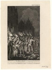 634 -TP000176 Sint Lucienacht, 1416: onthoofding gildemeesters op de Grote Markt (bij fakkellicht).