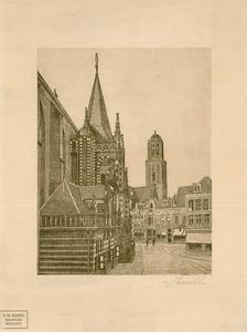 850 -TP000286 Gezicht op de Peperbus vanaf de Grote Markt, in het zicht de Hoofdwacht, gezien vanuit het noordoosten. ...